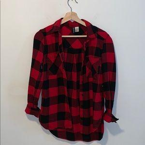 H&M RED Cotton Shirt